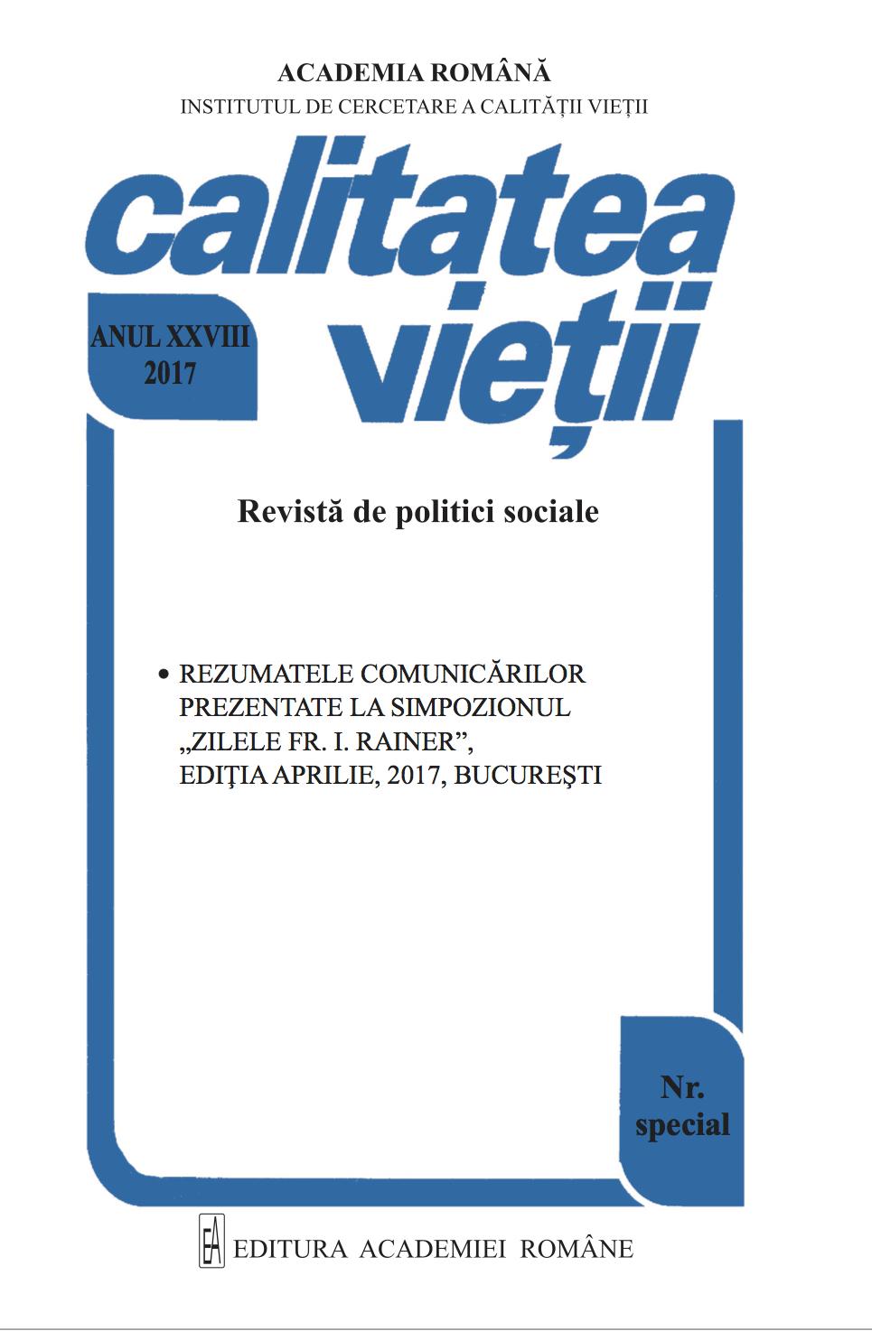 """View Vol. 28 (2017): Numărul special """"Zilele Fr. I. Rainer"""""""