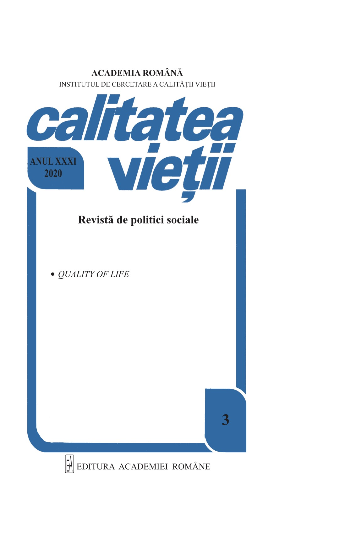 View Vol. 31 No. 3 (2020)