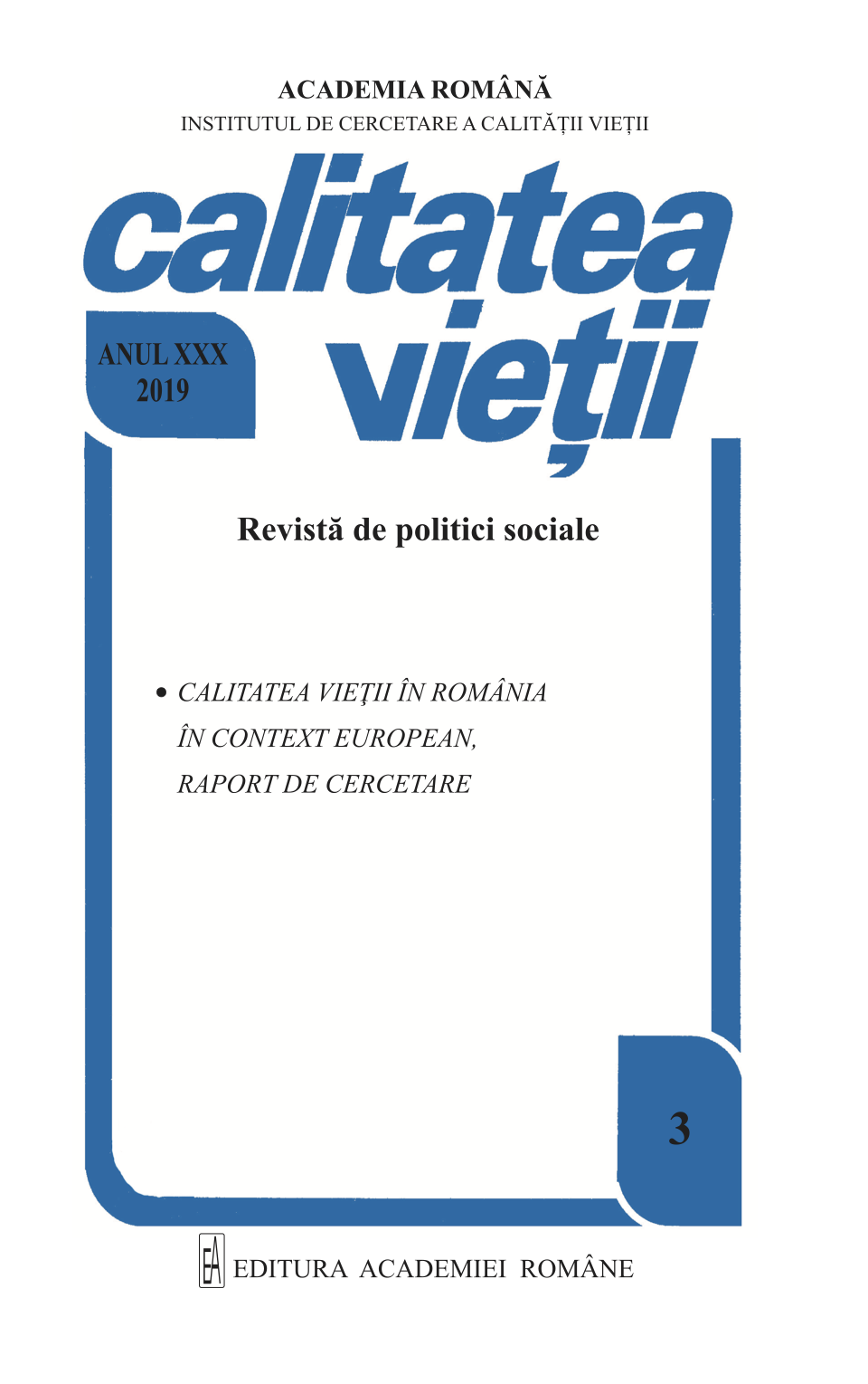 View Vol. 30 No. 3 (2019)